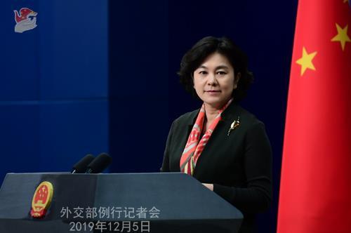 ▲화춘잉(華春瑩) 중국 외교부 대변인 (중국 외교부 제공)