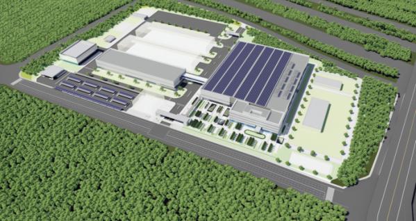 ▲현대차그룹이 첫 번째 수소연료전지 생산 공장을 중국 광저우에 세운다. 연간 생산목표는 6500기, 완공은 2022년 하반기가 목표다.  (조감도=현대차그룹)