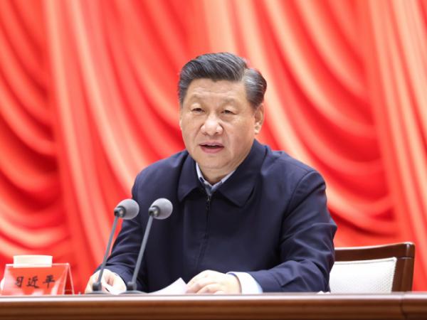 ▲시진핑 중국 국가주석이 1일 베이징에서 열린 중국공산당 중앙당교 청년 간부 양성반 개학식에서 연설하고 있다. 베이징/신화뉴시스