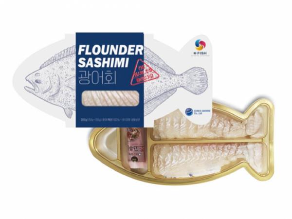 ▲수출용 K-FISH 간편식품(넙치회). (자료제공=해양수산부)