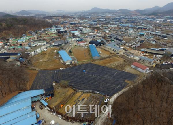 ▲3기 신도시로 최근 지정된 경기도 시흥시 과림동 일대 모습.