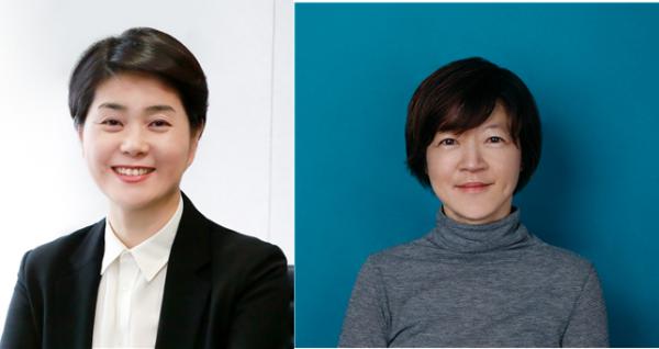 ▲(왼쪽부터) 이수영 에코매니지먼트코리아홀딩스㈜ 집행임원, 제현주 옐로우독 대표 (사진제공=LG그룹)