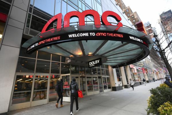 ▲뉴욕에 소재한 AMC 극장 전경. AP연합뉴스