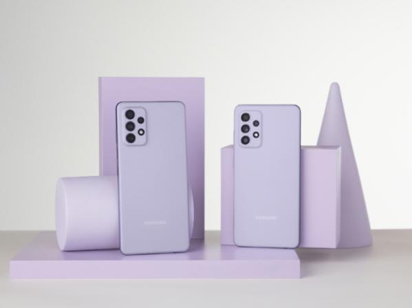 ▲갤럭시 A52와 갤럭시A72 어썸 바이올렛 제품 이미지 (사진제공=삼성전자)