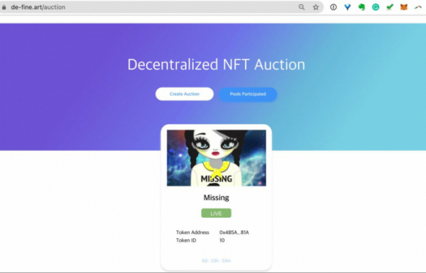 ▲17일 오후 2시 국내 최초 NFT 미술품 경매가 진행됐다. (사진=피카프로젝트)