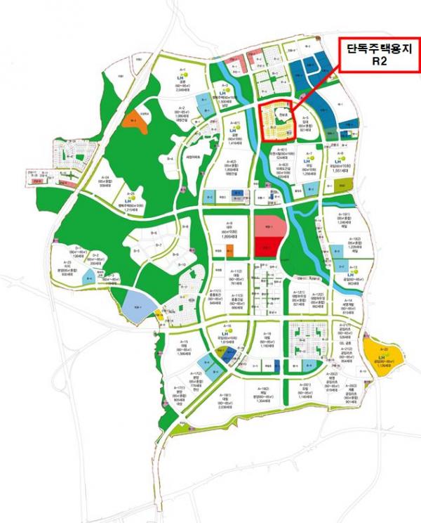 ▲옥정신도시 내 주거전용 단독주택용지 공급토지 위치도 (자료제공=한국토지주택공사(LH))