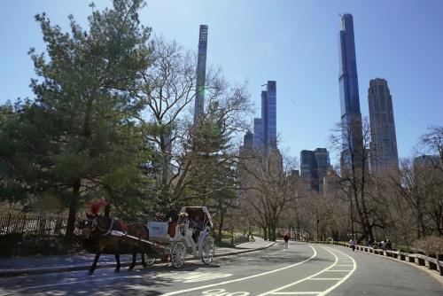 ▲6일(현지시간) 뉴욕 센트럴파크 주변으로 아파트들이 보인다. 뉴욕/AP연합뉴스
