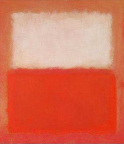 ▲마크 로스코 '붉은색 위에 흰색', 1956   (리움)