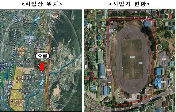 ▲천안 오룡경기장 철거부지 일대 조감도 (사진제공=국토교통부)