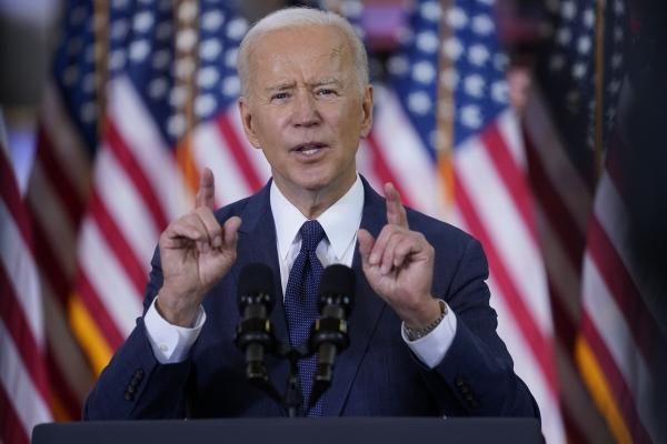 ▲조 바이든 미국 대통령이 지난달 31일(현지시간) 펜실베이니아주 피츠버그에서 연설을 하고 있다. 피츠버그/AP연합뉴스