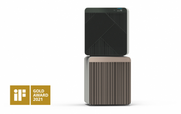 ▲iF 디자인 어워드에서 금상을 수상한 삼성전자 공기청정기 비스포크 큐브 에어 (사진제공=삼성전자)