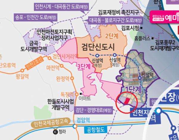 ▲금성백조이 분양하는 인천 '검단신도시 예미지 퍼스트포레' 아파트 위치도.  (자료제공=금성백조)