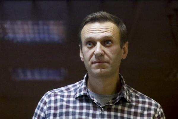 ▲2월 20일(현지시간) 러시아 야권 운동가 알렉세이 나발니가 러시아 모스크바 바부스킨스키 지방법원에 출두해 재판을 받고 있다. 모스크바/AP연합뉴스