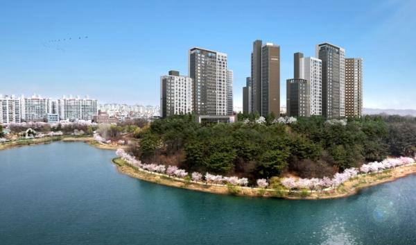 ▲HDC현대산업개발 '군산 호수공원 아이파크'아파트 투시도. (자료 제공=HDC현대산업개발)
