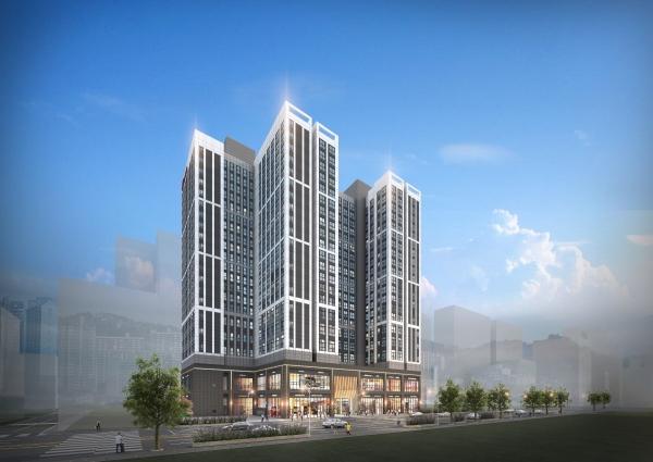 ▲현대건설 '힐스테이트 장안 센트럴' 오피스텔 투시도. (자료 제공=현대건설)