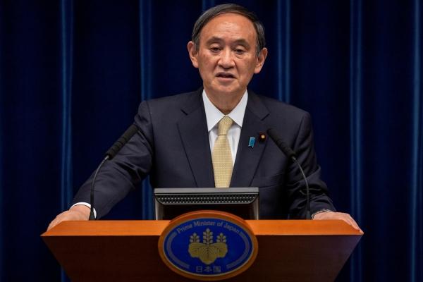 ▲스가 요시히데 일본 총리가 23일 코로나19 피해 현황에 대해 브리핑하고 있다. 도쿄/로이터연합뉴스
