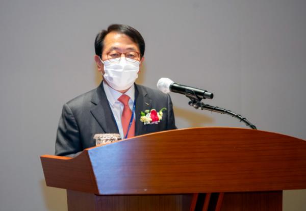 ▲26일 취임사를 하고 있는 박형덕 한국서부발전 사장. (사진제공=한국서부발전)