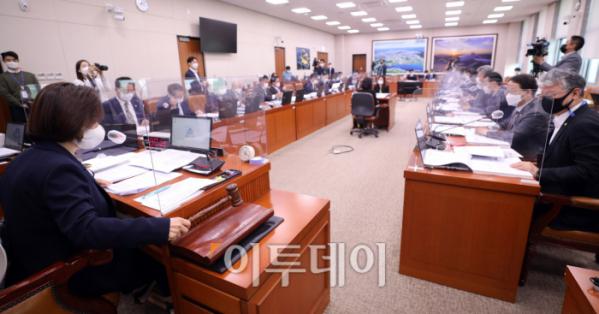 ▲국회 국토위원회 전체회의 풍경.  (이투데이DB)