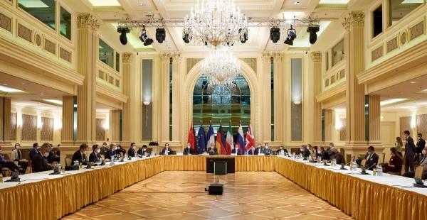 ▲지난달 6일 오스트리아 빈에서 이란 핵합의(JCPOA·포괄적 공동행동계획) 공동위원회 참가국 회의가 열리고 있다. 빈/로이터연합뉴스
