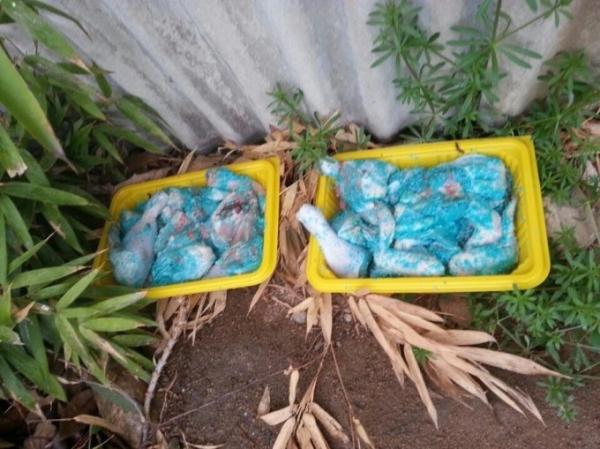 ▲지난달 13일 대전 대덕구 석봉동 한 폐가 근처에서 발견된 쥐약이 버무려진 닭고기. (대전길고양이보호협회)