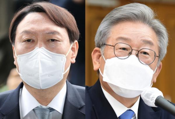 ▲윤석열(왼쪽) 전 검찰총장과 이재명 경기지사. (연합뉴스)