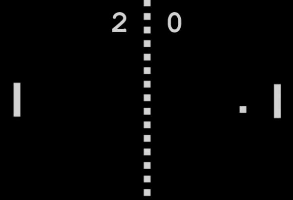 ▲탁구처럼 이리저리 튀어다니는 공을 받아치는 아케이드 방식의 퐁 게임. 1972년 11월 29일에 아타리에서 출시했다. (출처=퐁 홈페이지 캡처)