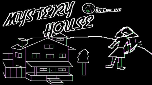 ▲그래픽이 최초로 사용된 PC 게임 '미스터리하우스'. 거대한 주택을 탐험하는 호러 게임으로, 부부인 로버타와 켄 윌리엄스가 함께 만들었다.   (출처=유튜브 캡처)
