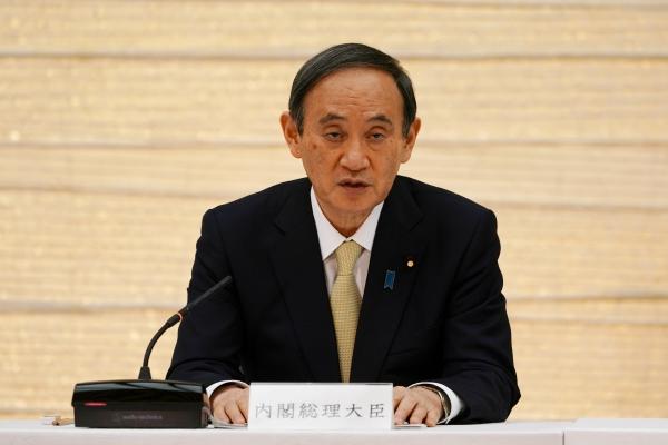 ▲스가 요시히데 일본 총리가 지난달 23일 도쿄의 총리 관저에서 발언하고 있다. 도쿄/로이터연합뉴스