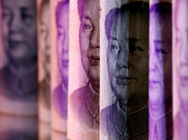 ▲중국 위안화 지폐의 모습이 보인다. 로이터연합뉴스