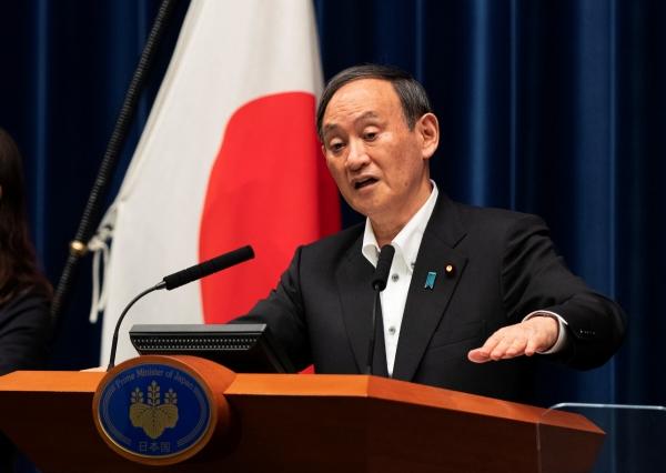 ▲스가 요시히데 일본 총리가 7일 도쿄에서 기자회견을 하고 있다. 도쿄/로이터연합뉴스
