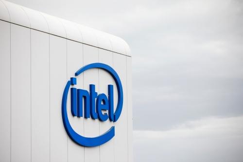 ▲미국 반도체 기업 인텔 로고가 보인다. 로이터연합뉴스