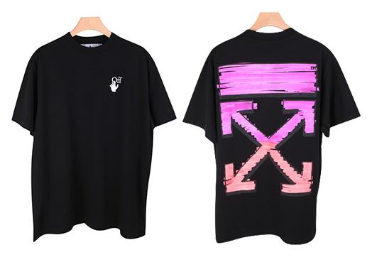 ▲오프화이트 그라데이션마커 애로우 반팔 티셔츠 (사진제공=머스트잇)