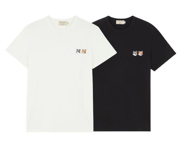 ▲메종키츠네 더블 폭스 헤드 반팔 티셔츠 (사진제공=머스트잇)