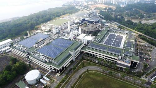 ▲미국 파운드리(반도체 위탁 생산) 업체인 글로벌파운드리의 싱가포르 캠퍼스가 보인다. 로이터연합뉴스