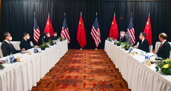 ▲3월 18일(현지시각) 미국 알래스카주 앵커리지에서 열린 미중 고위급 외교 회담   (연합뉴스)