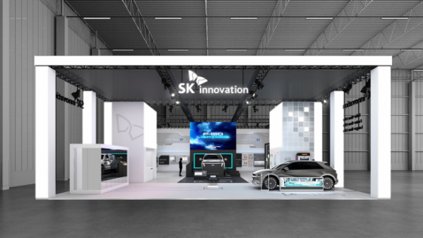 ▲SK이노베이션의 '인터배터리 2021' 전시 공간 (사진제공=SK이노베이션)