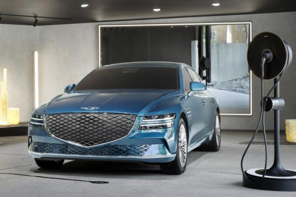 ▲제네시스가 첫 전기차인 G80 전동화 모델을 일반에게 처음으로 공개한다.  (사진제공=제네시스)