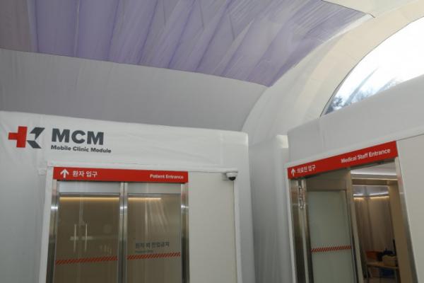 ▲ 원자력병원에 설치한 확장형 음압병동 실내 모습 (신성이엔지)