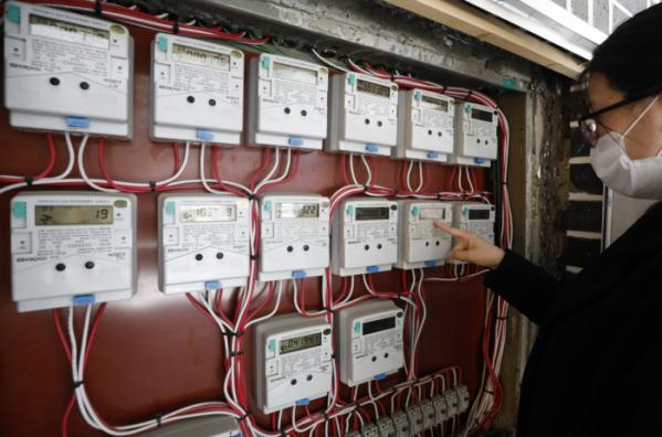 ▲3월 22일 서울의 한 다세대주택 전력량계 모습. (뉴시스)