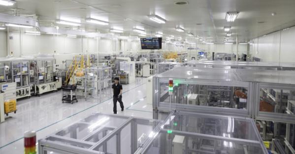 ▲한온시스템 평택공장 전동컴프레서 생산라인 내부.  (사진제공=한온시스템)