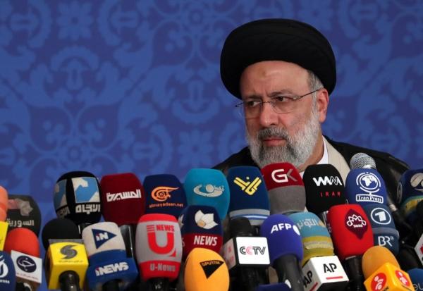 ▲세예드 에브라힘 라이시 이란 차기 대통령이 21일(현지시간) 테헤란에서 당선 기자회견을 하고 있다. 테헤란/EPA연합뉴스