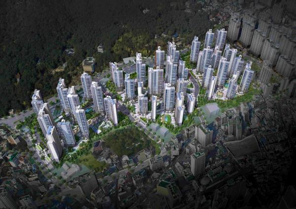 ▲삼성물산 '래미안 포레스티지' 아파트 조감도  (자료제공=삼성물산)