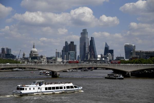 ▲영국 런던에서 금융회사들이 몰려 있는 '시티 오브 런던' 전경. 런던/AP뉴시스