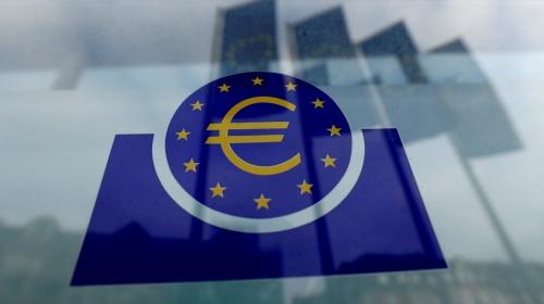 ▲유럽중앙은행(ECB) 로고가 보인다. 로이터연합뉴스