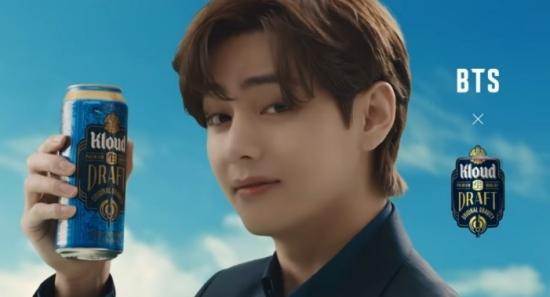 ▲롯데칠성이 '클라우드 생 드래프트' 광고 모델로 기용한 방탄소년단(BTS) (사진제공=롯데칠성)