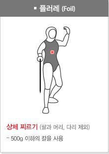 ▲플뢰레 유효타격면 (대한펜싱협회 홈페이지 캡처)