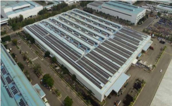 ▲현대차 인도법인에 설치된 태양광 발전  (사진제공=현대차)