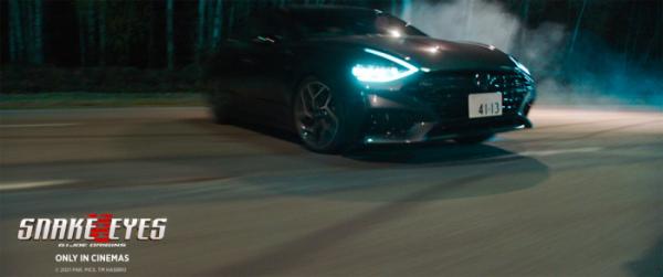 ▲현대차 쏘나타 N 라인이 영화 '스네이크 아이즈: 지.아이.조'에 등장한다.  (사진제공=현대차)