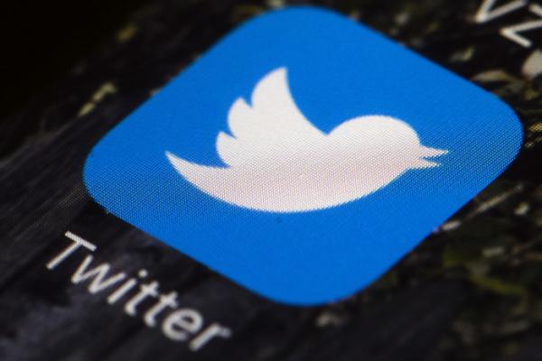 ▲휴대폰 속 트위터 앱 아이콘. AP뉴시스