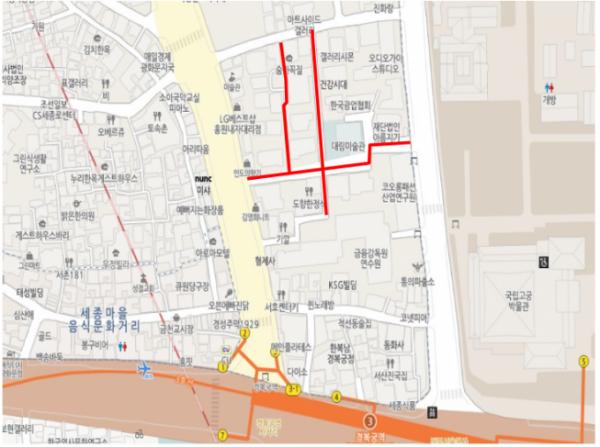 ▲서울 종로구 자하문로 일대 도시경관사업 위치도. (자료제공=서울시)